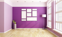 Empty purple room Stock Photography