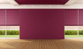 Empty purple room Royalty Free Stock Images