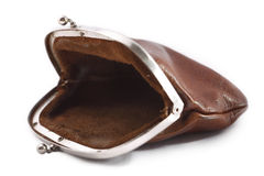 Empty purse stock image