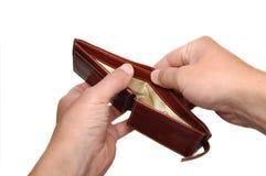 Empty purse Royalty Free Stock Image