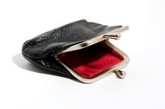 Empty purse Stock Photos