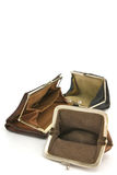 Empty purses. Royalty Free Stock Photography