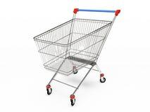Empty pushcart. Empty shop pushcart 3D rendering Royalty Free Illustration