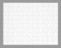 The empty puzzle isolated on gray Royalty Free Stock Photos