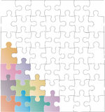 Empty puzzles Stock Photo