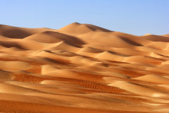 Empty Quarter Landscape Stock Images