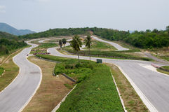 Empty race circuit in Thailand Stock Images