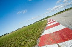 Empty race track Stock Photo
