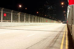 Empty Race Track. An empty race track for formula one in Singapore during night stock photos