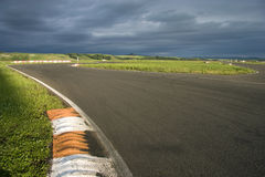 Empty racing line. Royalty Free Stock Images