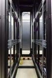 Empty racks in the data center Stock Image