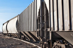 Empty railcars sitting on a rail siding Stock Photo