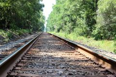 Empty Railroad Perspective Royalty Free Stock Photo