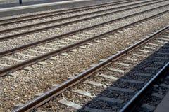 Empty rails Royalty Free Stock Photos