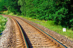 Empty railway. Picture of nature with empty railway Stock Images