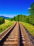 Empty railway. Picture of nature with empty railway Stock Image