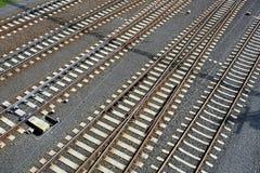 Empty railway lines Stock Images