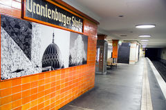 Empty railway station in Berlin, Germany Stock Images