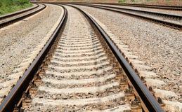 Empty railway tracks Stock Photography
