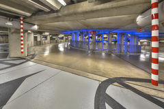 Empty ramp in parking garage mall Royalty Free Stock Photography