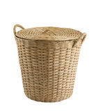 Empty rattan basket Stock Photo