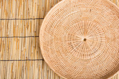 Empty rattan basket or tray Royalty Free Stock Image