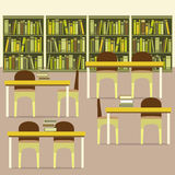 Empty Reading Seats In A Library. Illustration stock illustration