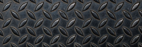 Empty real diamond plate steel for pattern and background Stock Image