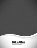 Empty realistic black board school in  format Royalty Free Stock Images