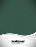 Empty realistic black board school in  format Royalty Free Stock Photos