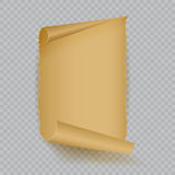 Empty realistic sheet of parchment paper. Vector illustration Stock Photo