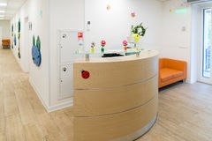 Empty Reception in Children's Medical Center Royalty Free Stock Photos