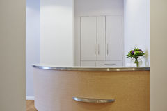 Empty reception at doctors office. Bright empty reception at a doctors office royalty free stock photos