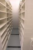 Empty Records storage room, waiting for records Royalty Free Stock Images
