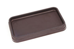 Empty rectangle  brown bakery plastic package Stock Image