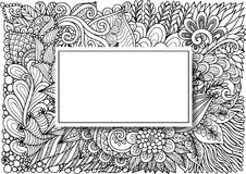 Free Empty Rectangle Frames With Shadow On Hand Drawn Floral Background For Cards,invitation And So On. Vector Illustration Royalty Free Stock Image - 115780546