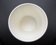 Empty recycle paper cup Stock Image