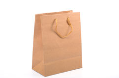 Empty recycled paper shopping bag Stock Image