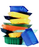 Empty Recycled Trays Royalty Free Stock Images