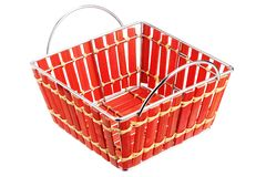 Empty red basket Royalty Free Stock Image