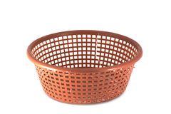 Empty red basket plastic  Royalty Free Stock Photos