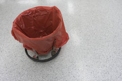 Empty red bin the operating room Royalty Free Stock Image