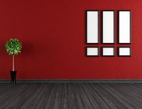 Empty red and black room Royalty Free Stock Image