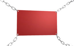 Empty red board Stock Photos
