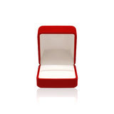 Empty red box for ring Stock Images