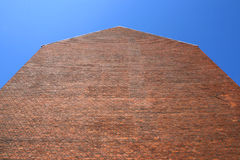 Empty red bricks wall Stock Images