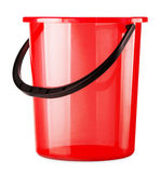 Empty red bucket Royalty Free Stock Photos