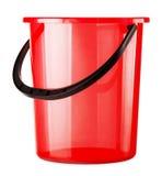 Empty red bucket Royalty Free Stock Photos