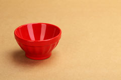 An empty red ceramic bowl Royalty Free Stock Photo