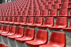 Empty red chairs Stock Photos